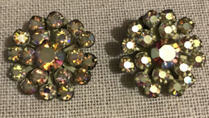 Vintage  Gorgeous Rhinestone Clip Earrings