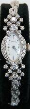 Beautiful Antique 17 Jewel Hamilton 14K White Gold .50 Ct Diamond Ladies Watch