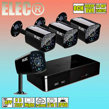 8CH 1080N CCTV DVR 1500TVL Outdoor Home Security Camera System Night Video 1MP