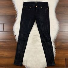 7 For All Mankind Women's Size 25 Black The Knee Seam Skinny Pants