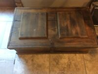 Antique Vintage Primitive Wood Carpenter Tool Tackle Box hand made.