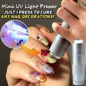 Head Soft Silicone Nail Presser Lamp UV Led Mini UV Light Presser Portable