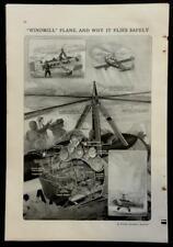 Cierva C.19 AUTOGIRO Gyroplane 1930 Autogyro graphic pictorial