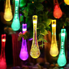 20 LED Multi-Colour Xmas Hanging Icicle Fairy Lights Solar Power String Lights