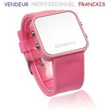 """Montre Led watch ice """"Rose"""" Homme/Femme Bracelet silicone + suivi-colis"""