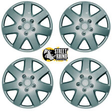 "Toyota Corolla Silver Tempest Easy To Fit 15"" Wheel Cover Hub Caps x4"