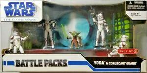 Star Wars The Clone Wars Animated Battle Pack - Yoda & Coruscant Guard Trooper