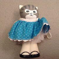 Vintage 1989 Dustyn Schear Cat Figurine Ornament