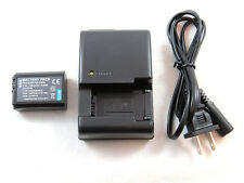 Charger and Battery for Sony Alpha SLT-A33, SLT-A35, SLT-A37, SLT-A55V  Cameras