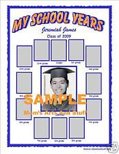 BABY FIRST SCHOOL YEAR PHOTO COLLAGE PICTURE FRAME  BOY