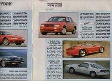 Z42 Ritaglio Clipping 1991 Chrysler Stealth Shadow Convertible Dodge Daytona