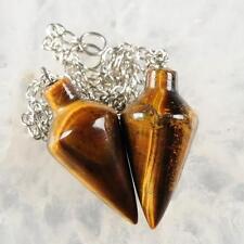 g3546.10 Two golden tiger eye  pendulum pendant