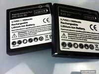 2x AVANTO Power Li-Ion Akku 3500mAh für HTC Evo 3D, Schwarz, BITTE LESEN