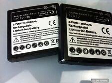 2x Avanto Power Li-ion batería 3500mah para HTC Evo 3d, negro, por favor leer