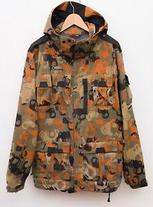 COLUMBIA Men M Water Resistant Ski Jacket Snow Skirt Rain Coat Omni Tech Hooded