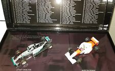 MINICHAMPS Ayrton Senna 1993 Hamilton 2015 41 Victories 2 Car Set F1 1/43