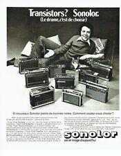 Publicité Advertising 037  1975  la gamme transistors Sonolor