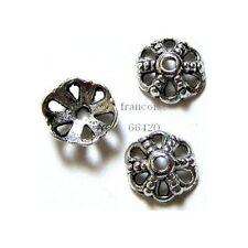 10 Caps calottes coupelles Fleur 9.5x8.5x3.5mm Perles apprêts créat  bijoux A361