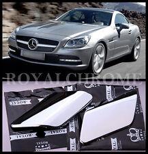 x2 ROYAL CHROME Headlight Washer Nozzle Covers Mercedes Benz R172 SLK AMG