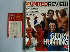 Menta 2002/03 Manchester United v Blackburn Rovers Liga Copa S/F 1st L + Billete