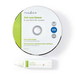 Laufwerk u. Laser Linsen Reinigungs DVD + Flüssigkeit für DVD Blu-Ray Spieler PC