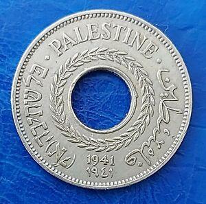Israel Palestine British Mandate 5 Mils 1941 Coin XF Key Date