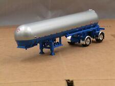 DCP 1/64 blue/silver spread axle propane tank trailer new no box