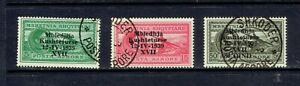 ALBANIA - 1939 - ITALIAN OCCUPATION AIR MAIL SET - SCOTT C45 TO C45 - USED