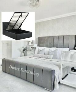 Montreal Plush Velvet Bed With Storage, Panel Bed, Designer Bed, Storage Bed