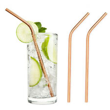 1x Elegant Rose Gold Stainless Steel Drinking Straws Home Party Bar Drinks Straw