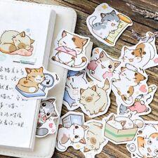 45Pcs/BOX Japanese Cute Cat Stickers Diary Handmade DIY Scrapbooking Stickers