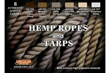 LifeColor CS28 Diorama Set Hemp ropes And tarps 6x 22ml Acrylic Colours