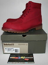 "Timberland 6"" Premium Red Nubuck Boot Men's Size 13 TB0A1149 Brand New"