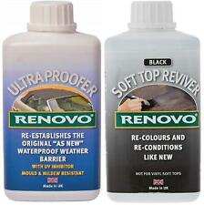 "Renovo Soft Top Canvas Reviver ""Black"" & Waterproofer - 2 x 500ml"