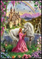Fairy and Unicorn - DIY Charts Counted Cross Stitch Patterns Needlework 14 ct