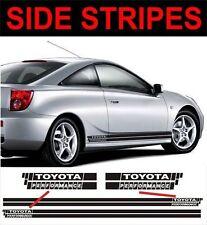 Ajuste de estilo de rendimiento Rayas Laterales Toyota Celica