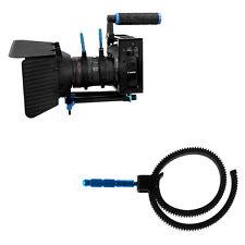 Einstellbare Getriebe Follow Focus-RingGurt für DSLR-Kamera-Zoomobjektiv Schwarz