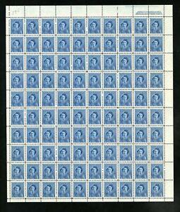 CANADA SHEET - Scott 276 - NH - UR Plate 2 - 4¢ Blue Princess Elizabeth (.053)