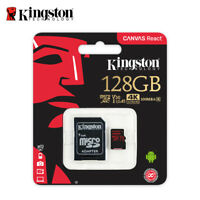 Kingston 128Go microSDXC UHS-I U3 Carte Mémoir for 4K Caméra Vidéo SDCR/128GB