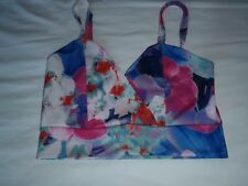 NEW LOOK CAMEO ROSE, STRETCHY CROP TOP, FLORAL, UK SIZE 12, EU 40.