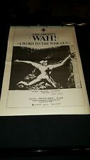 Pete Wah A Word To The Wise Guy Rare Original U.K. Promo Poster Ad Framed!