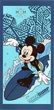 Serviette de plage Mickey Mouse surfeur, drap de bain pas cher, Disney neuf