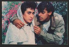 Salman Khan &  Karishma  -  indian  old bolly wood  PAIR  - Rare Post card