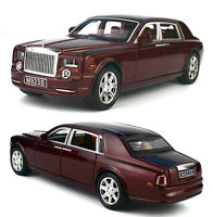 1:24 Rolls-Royce Phantom Metal Diecast Model Car Toy Sound&Light Red With Box