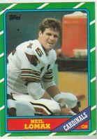 FREE SHIPPING-MINT TO NRMINT-1986 Topps #327 Neil Lomax Cardinals +BONUS CARDS