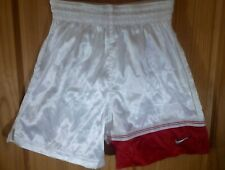 Nike Team Soccer Shorts Silky Red & Silver - Small