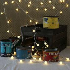 40*LED Bolas Doradas Luz de Tiras DIY Decoración Navidad Fiesta Exterior