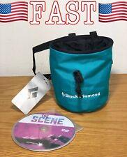 NEW Black Diamond Mojo Chalk Bag with FREE Climbing DVD, Teal, Small/Medium