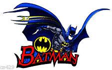 """6.5"""" BATMAN & JOKER COMICS CHARACTER WALL SAFE FABRIC DECAL CUT OUT"""