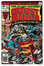 GHOST RIDER #21 (NM-) GLADIATOR & EEL Cover Story Appearance! 1976 Johnny Blaze!